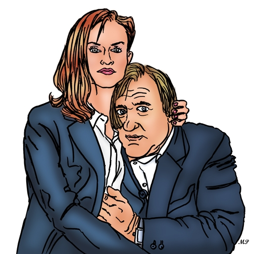 Gérard Depardieu, Isabelle Huppert by MP69